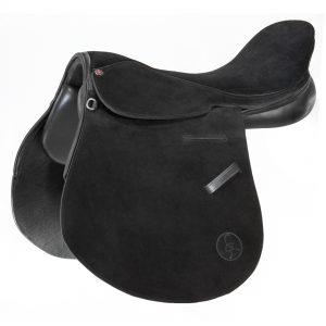 Polo Saddle american style full suede black/ Montura Polo americano de descarne negro